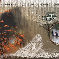 Noah Fischer, What happened to this State? Flood and Fire Currency, print on paper, 2016, 30x13 cm